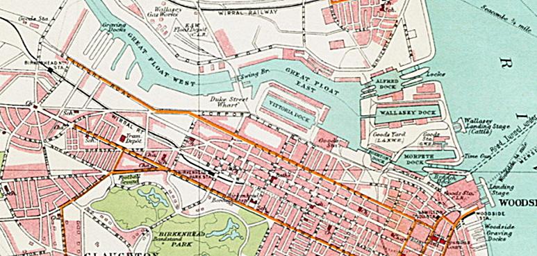 Geoff Topp Postcards|Birkenhead Docks